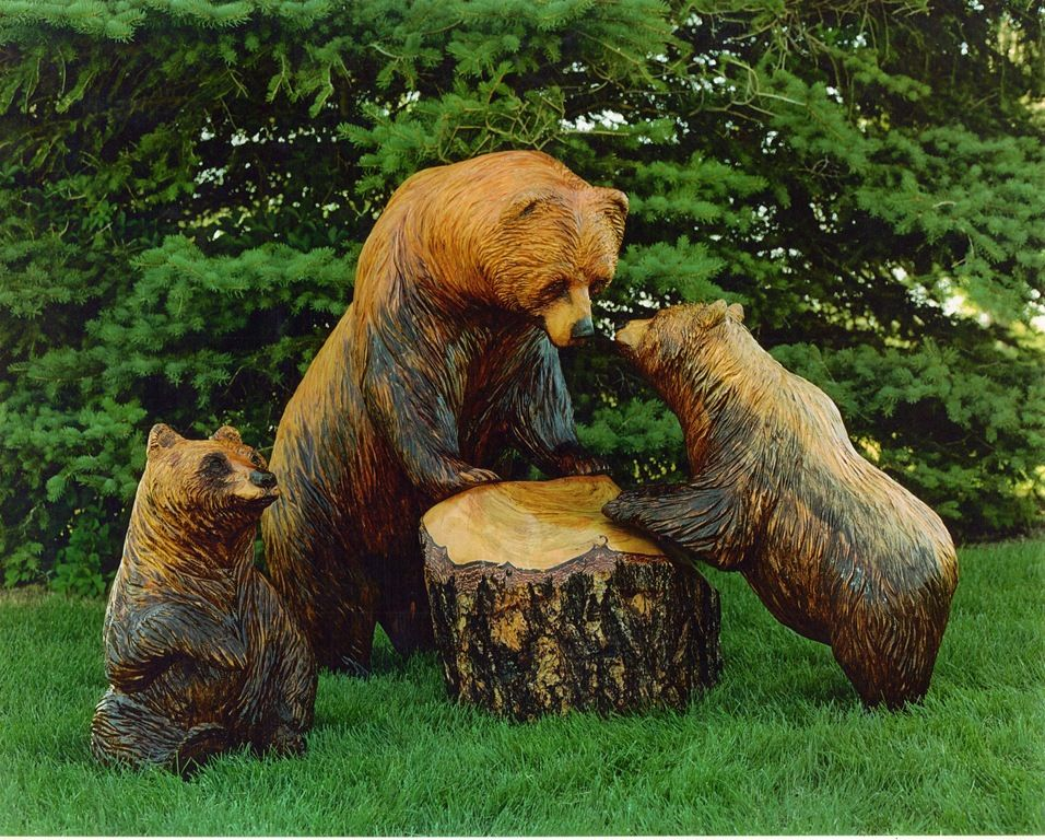 How to build bear wood carving pdf plans