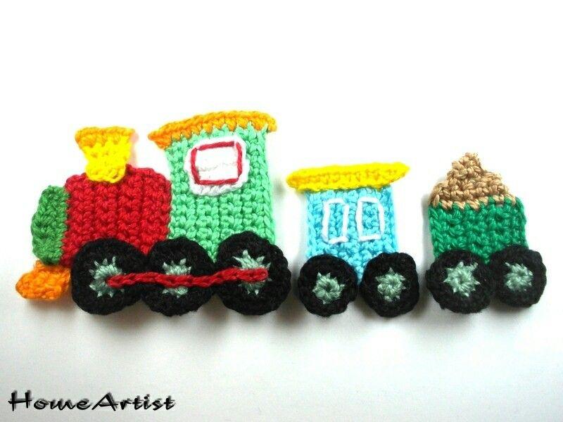 Tren crochet aplicacion #crochetapplicates