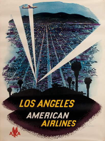 American Airlines - Los Angeles - 1960's - (Fred Ludekens) -