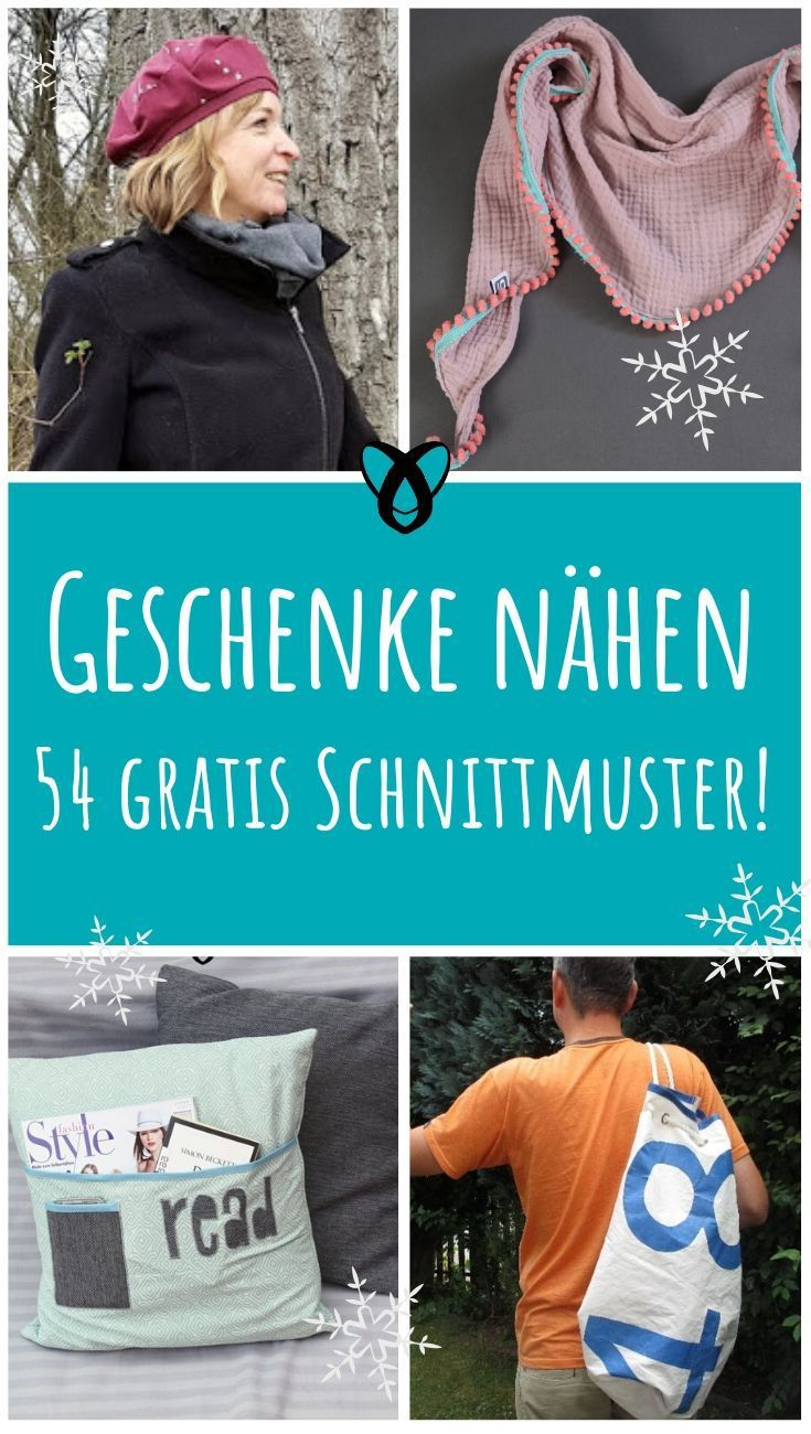 Weihnachtsgeschenke nähen! 54 gratis Schnittmuster
