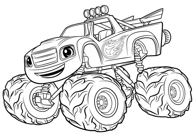 Blaze And The Monster Machines Coloring Pages En 2020 Paginas