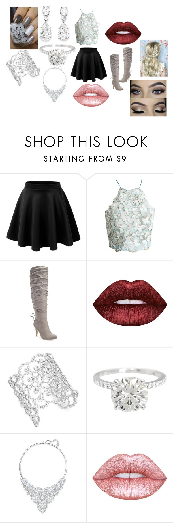 """""""Untitled #276"""" by megibson2005 on Polyvore featuring Thalia Sodi, Lime Crime, Kate Spade, Swarovski and By Emily"""