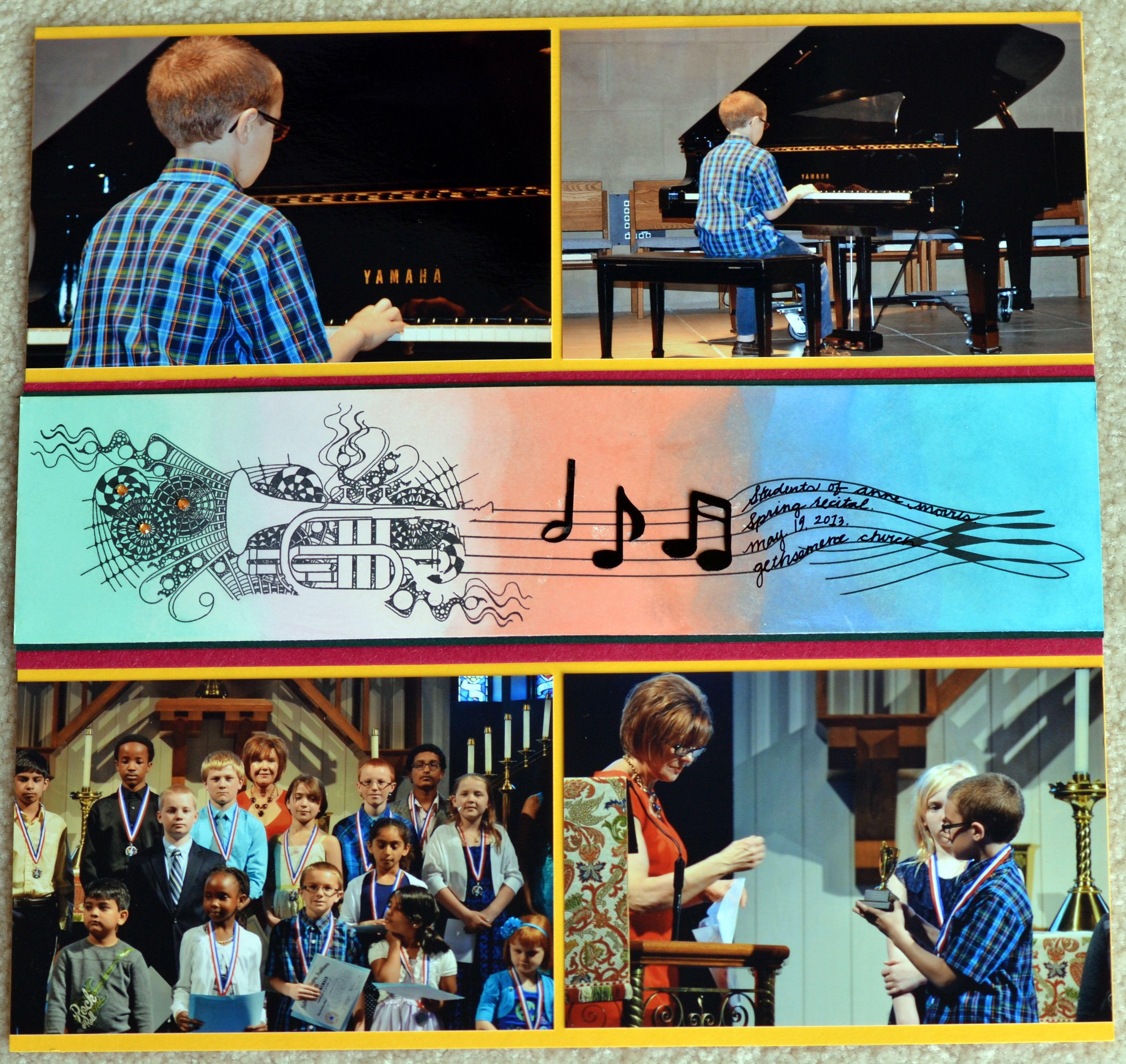Scrapbook ideas for teachers - Scrapbook Layout Spring Piano Recital Club Scrap