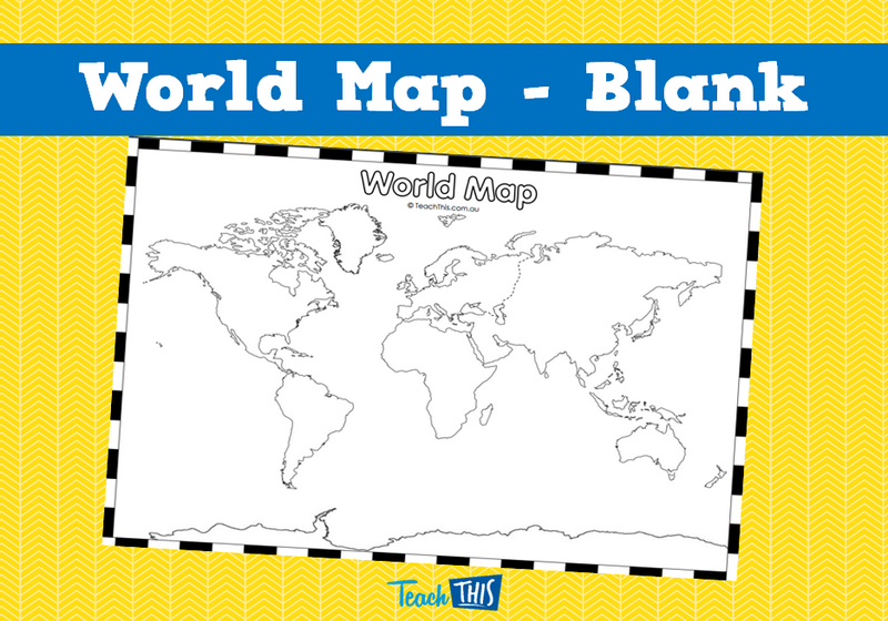 World map blank maps pinterest graphic organizers world map blank printable maps and graphic organisers teacher resources teacher resources and classroom games gumiabroncs Choice Image