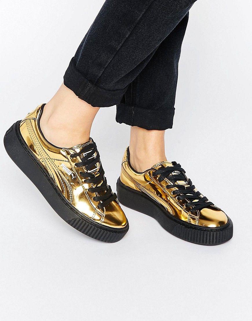 Zapatillas de deporte con plataforma en dorado de Puma Puma ZVdK91KNJ
