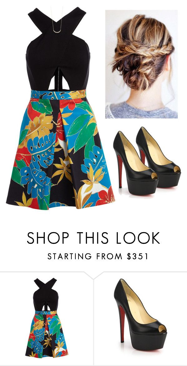 """""""#abby6kfollowercontest"""" by tris-prior-eaton-00 ❤ liked on Polyvore featuring Alice + Olivia, Christian Louboutin, Jennifer Meyer Jewelry and abby6kfollowercontest"""