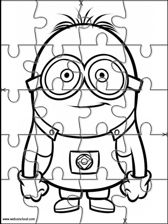 Puzzles Rompecabezas para imprimir para niños Minions 8 | Colour ...
