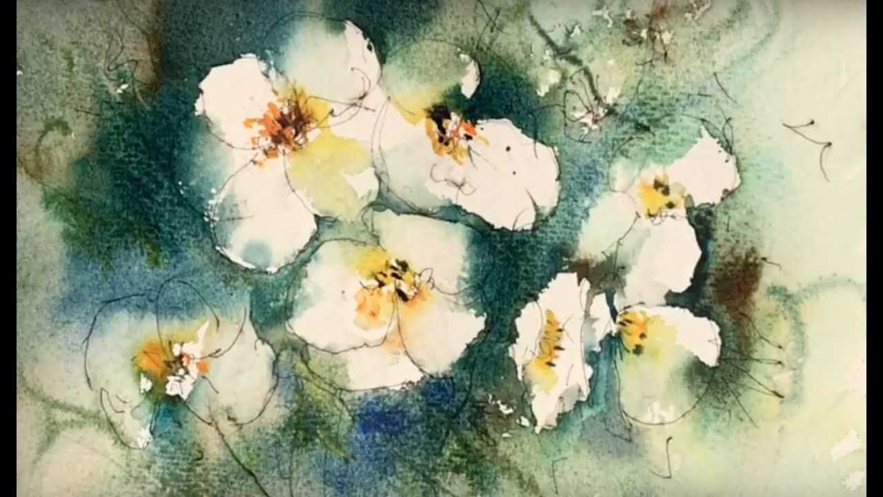 Inspiring Loose Flower Painting In Watercolour In 2020 With