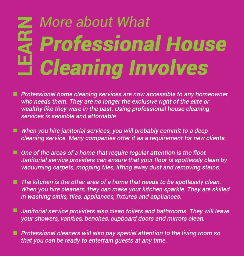 Professional #cleaners well know their job and how to perform it