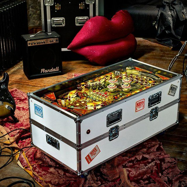 kiss pinball coffee table | pinball, table furniture and men cave