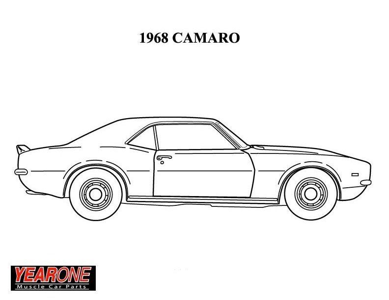 Hot Rod Coloring Page Cars Coloring Pages Coloring Pages 1968 Camaro