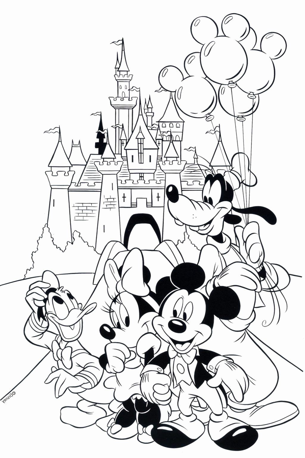 Disney Coloring Books For Adults Beautiful Cartoon Coloring Pages For Adults Awesome Colorin In 2020 Disney Coloring Pages Mickey Coloring Pages Disney Coloring Sheets