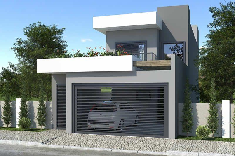 Plano de casa para terreno de 7x20 planos de casas for Casa moderna 7x20