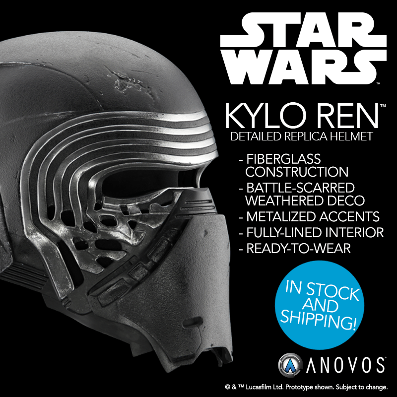 Star Wars Kylo Ren Helmets Now Restocked And Shipping From Anovos Coffee With Kenobi Star Wars Kylo Ren Kylo Ren Helmet Star Wars