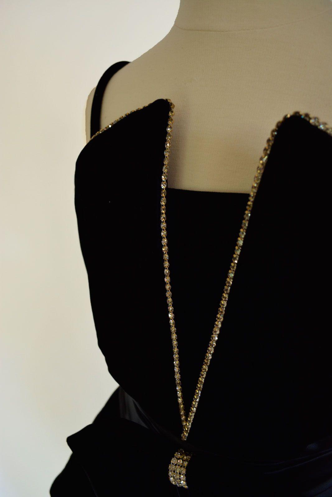 Vintage S Velvet Peplum Dress With Wonderful