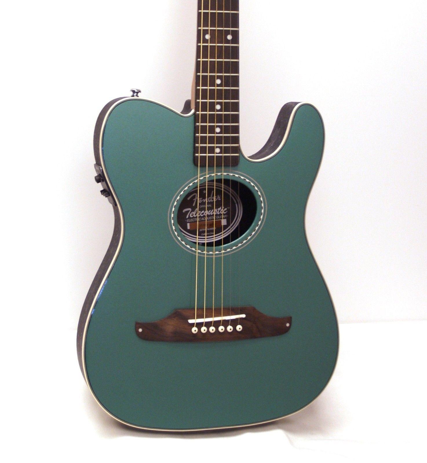 Fender Telecoustic Plus Acoustic Electric Guitar Sherwood Green Acoustic Electric Guitar Guitar Fender Telecoustic