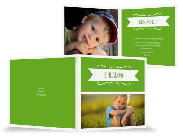 Schön Einladung Kindergeburtstag Rahmen In Grün