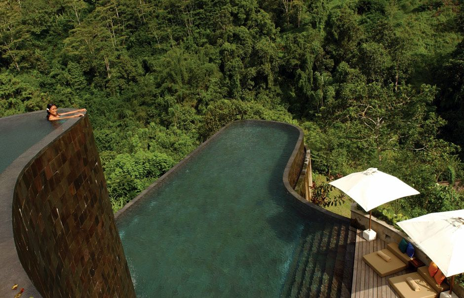 Hanging Garden #swimminpool in #Bali