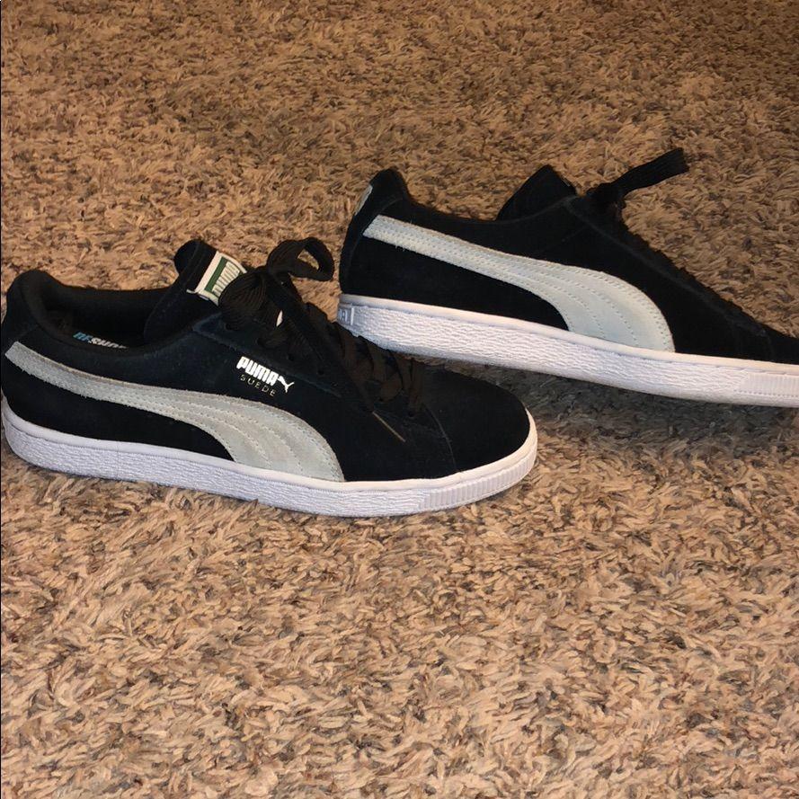 Puma Shoes | Puma Suede Classic Shoes | Color: Black | Size