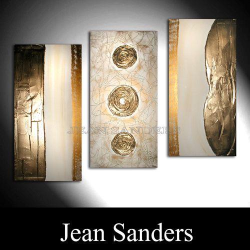 "Jean Sanders  ""NOBLESSA""  120x80 cm (bestehend aus 3 Rahmen zu je 40x80cm)"