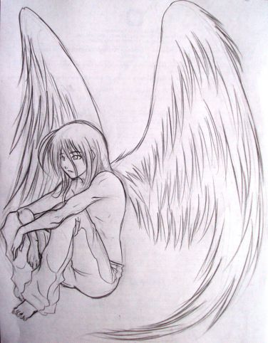 Angel S Voice Series Michelle Louring Angel Drawing Pencil Drawings Angel Sketch
