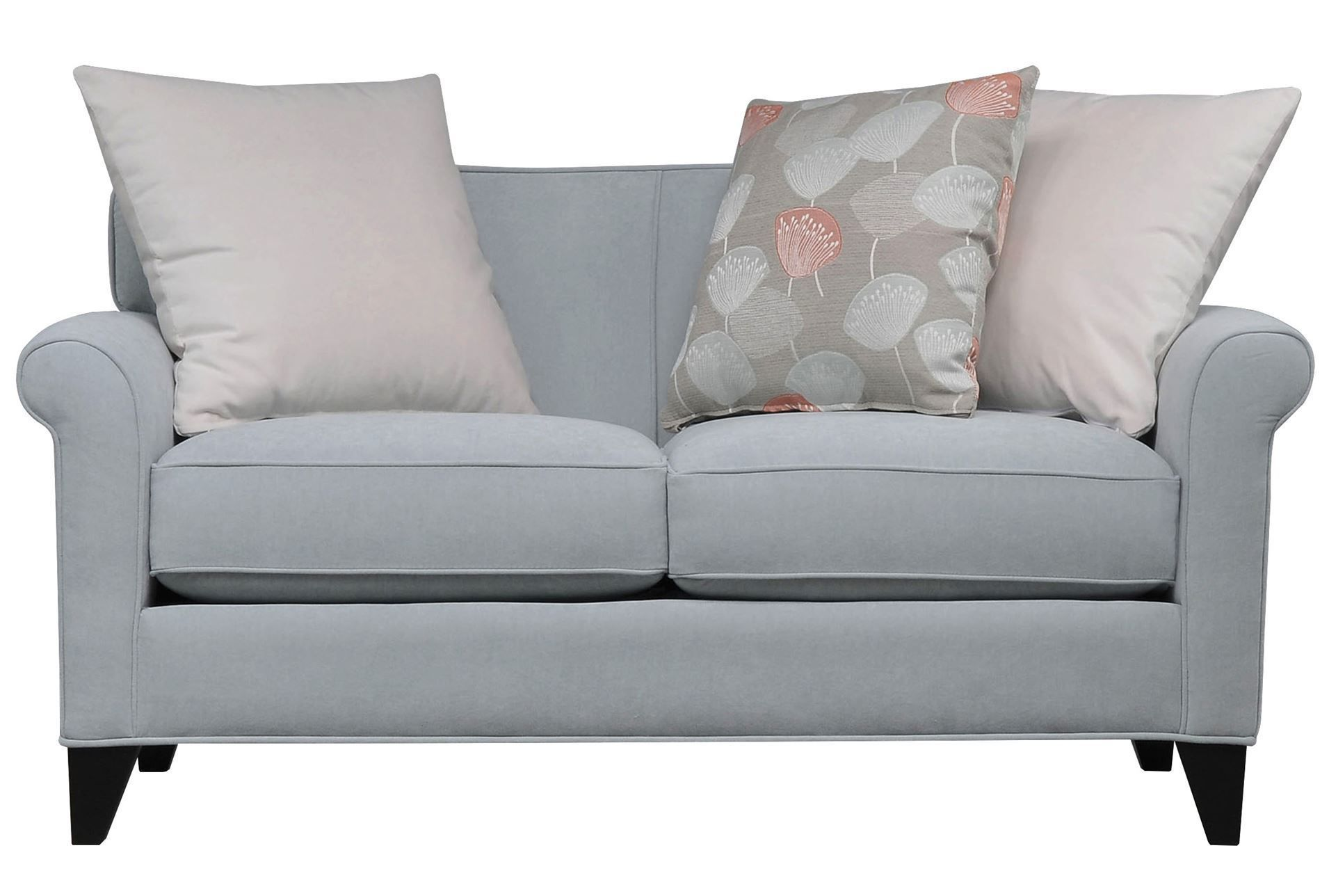 Gemma loveseat upholstery pillows and living spaces