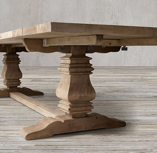 High Quality RHu0027s Salvaged Wood Trestle Rectangular Extension Dining Table:Our Salvaged  Wood Trestle Table From Timothy Nice Ideas