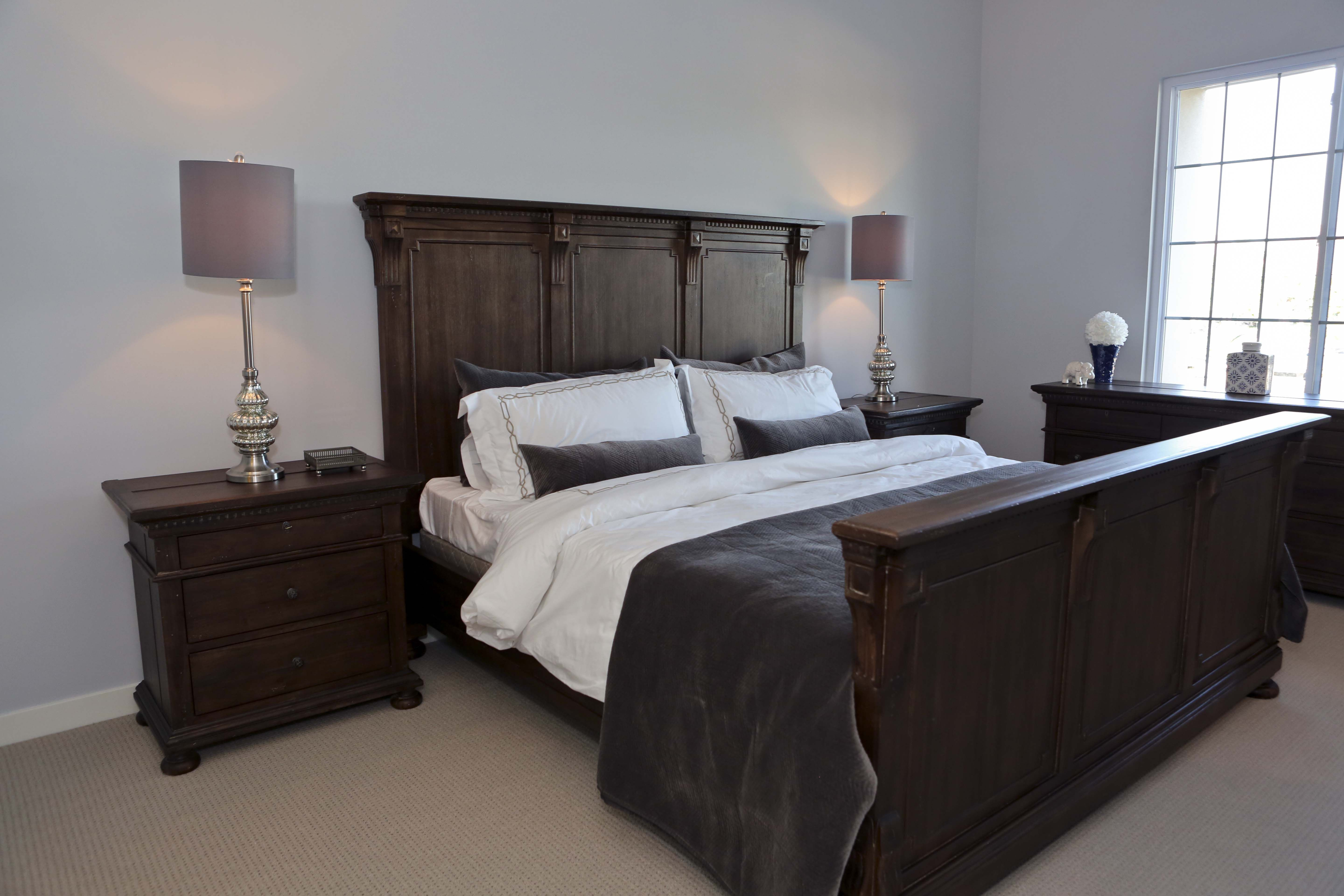 master bedroom at the rosedale residences furniture from