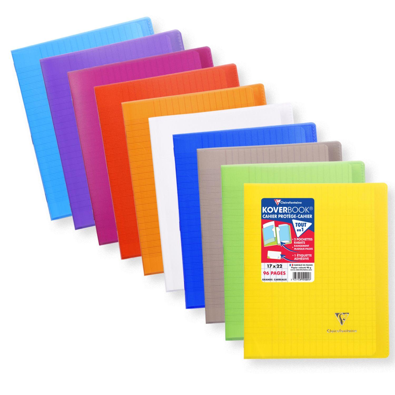 Cahier piqûre avec rabats 17×22 96p Seyes CLAIREFONTAINE : le cahier de 96 pages  à Prix Carrefour – Organisation bureau