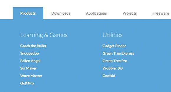 Horizontal Drop-Down Menu Menu, Design web and Web development - best of blueprint css menu