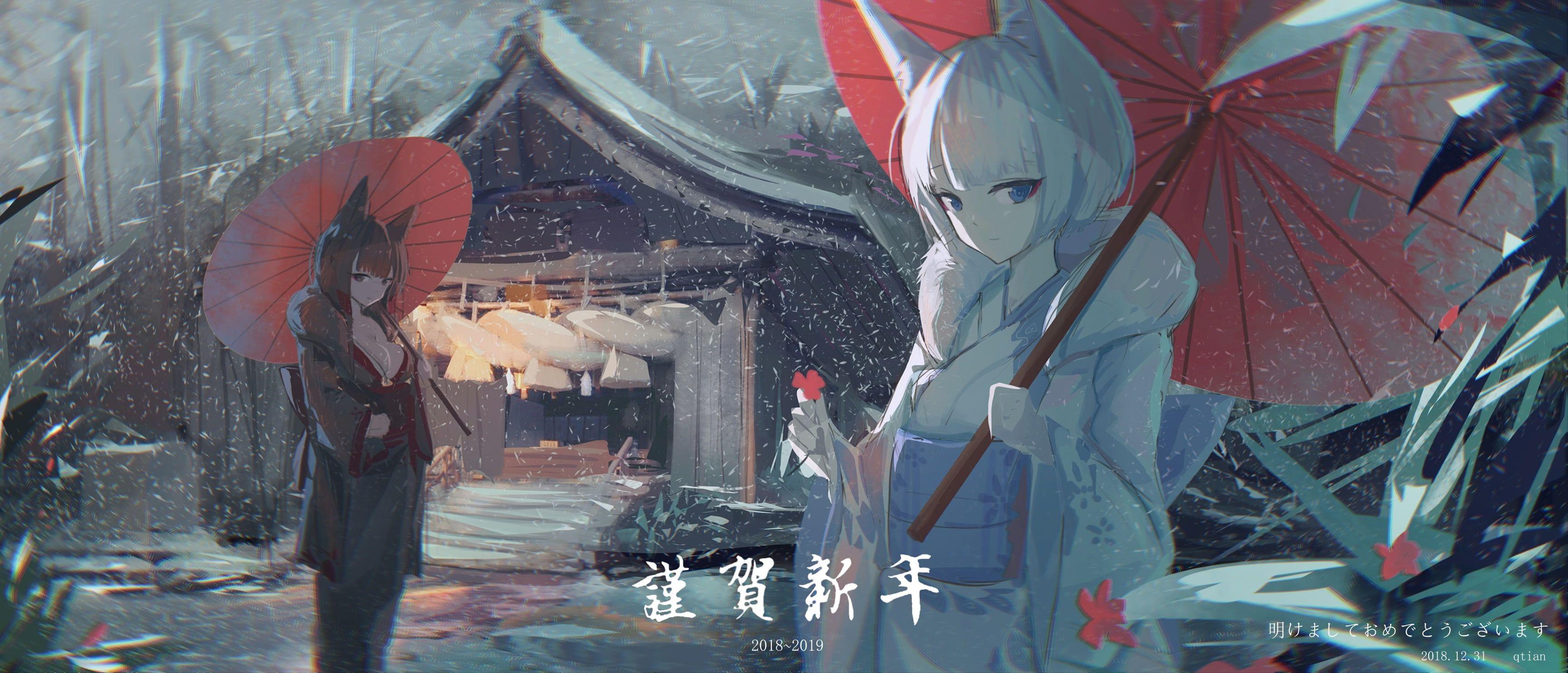 Anime Azur Lane Akagi Azur Lane Kaga Azur Lane 2k Wallpaper Hdwallpaper Desktop Anime Hd Wallpaper Wallpaper Akagi muse azur lane wallpaper