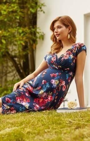 79478536526 Alessandra Maternity Dress Short Midnight Garden - Brought to you by  Avarsha.com