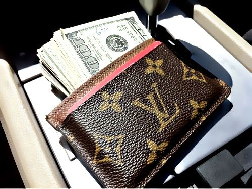 Tiny Louis Vuitton wallet
