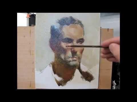 Alla prima portrait painting demo, by Zimou Tan - YouTube