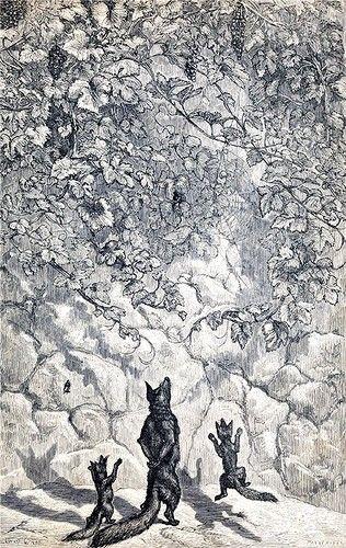Лисица и виноград. Басни Эзопа в иллюстрациях Эрнста ...