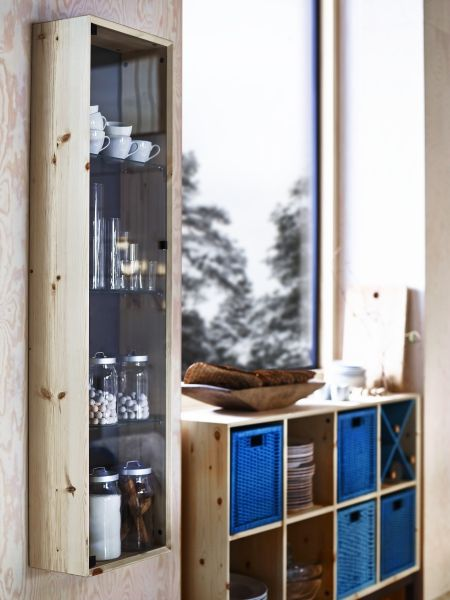 This Nornas Wall Cabinet From Ikea Is Made Of Untreated Solid Pine