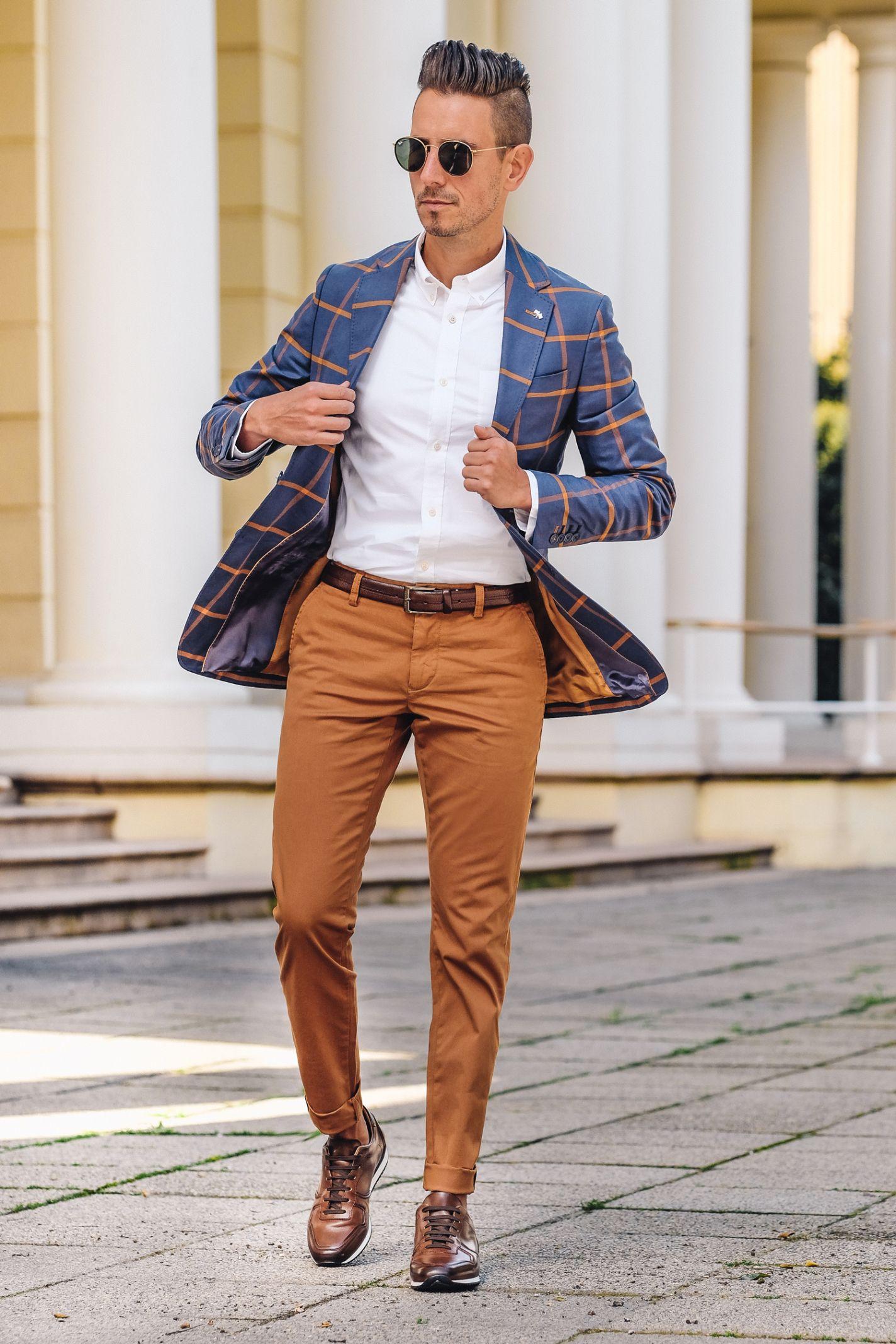 Fancy Dapper Men Smart Casual White Shirt Leather Shoes Brown