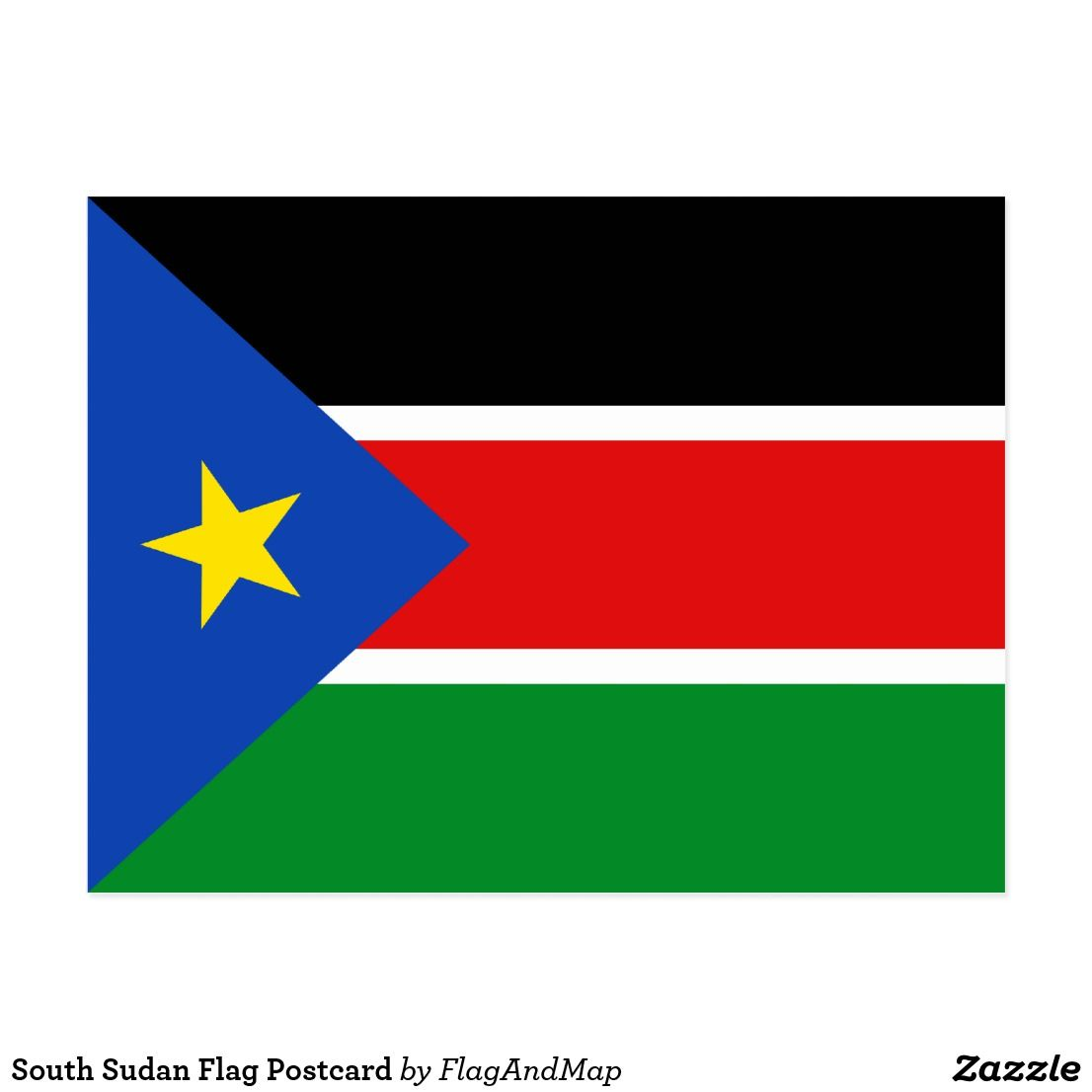 South Sudan Flag Postcard Zazzle Com South Sudan Flag Sudan