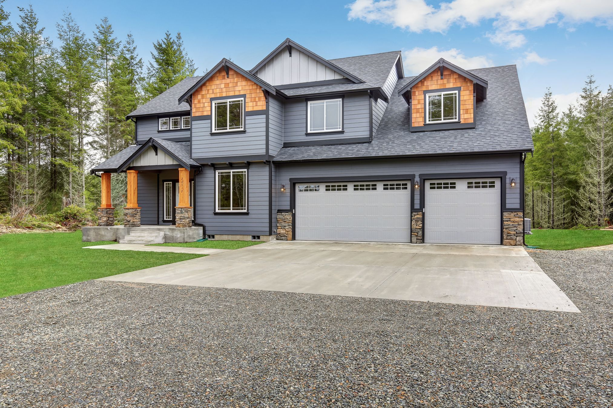 Best Sapphire Plan Featuring Cement Plank Siding And Real Cedar 400 x 300