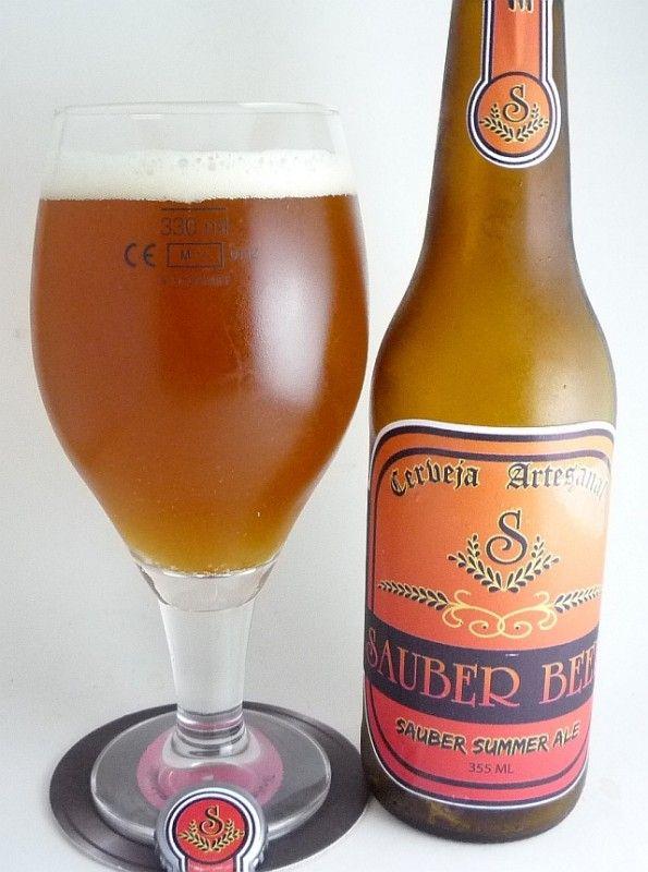 Cerveja Sauber Beer Summer Ale, estilo American Amber Ale, produzida por Sauber Beer, Brasil. 3% ABV de álcool.