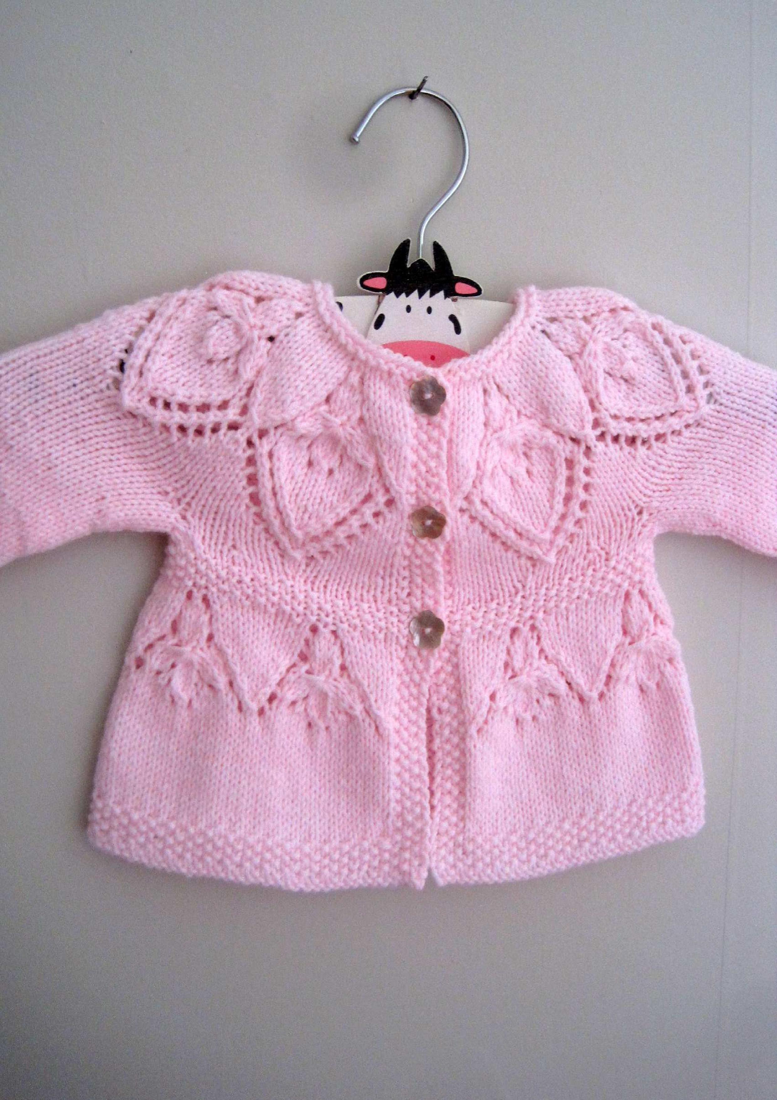 Sylvie Cardi Knitting Pattern. Baby sweater, cardigan knitting ...