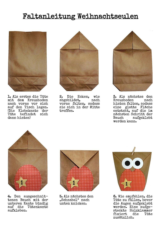Amazonde Diy Adventskalender Set Zum Basteln Weihnachtseulen