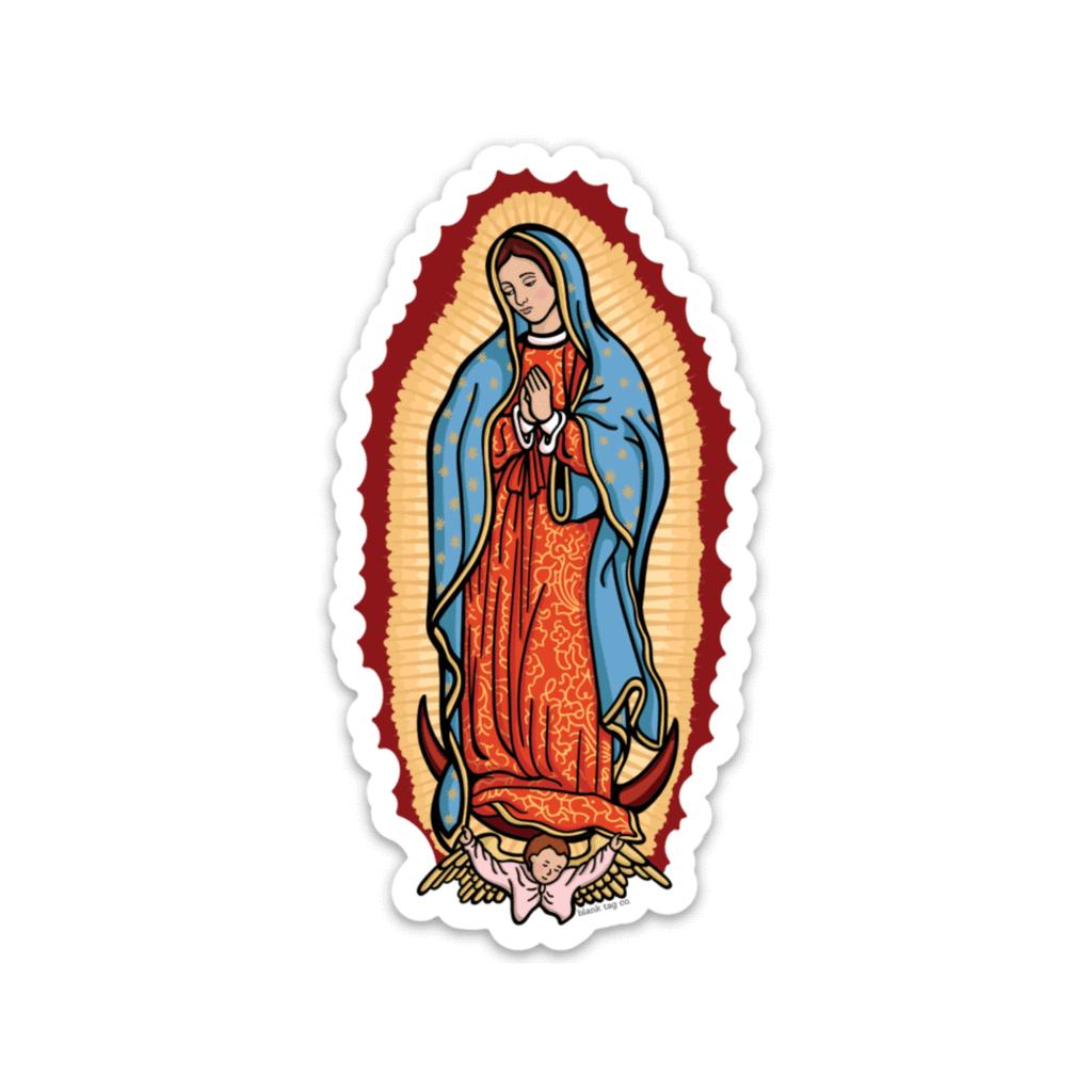 The Virgen De Guadalupe Sticker Cute Stickers Print Stickers Girl Stickers