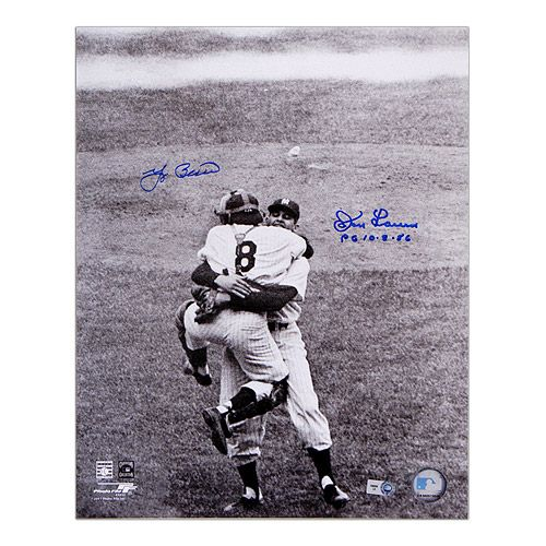 Don Larsen Hugs Yogi Berra After Becoming The First Major League Pitcher To Throw A Perfect Game In The World Series Don Larsen Yogi Berra World Series History