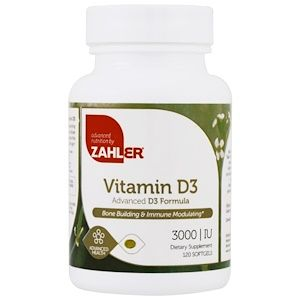 Zahler, ビタミンD3、高度なD3配合、3000IU、120ソフトジェル - iHerb.com