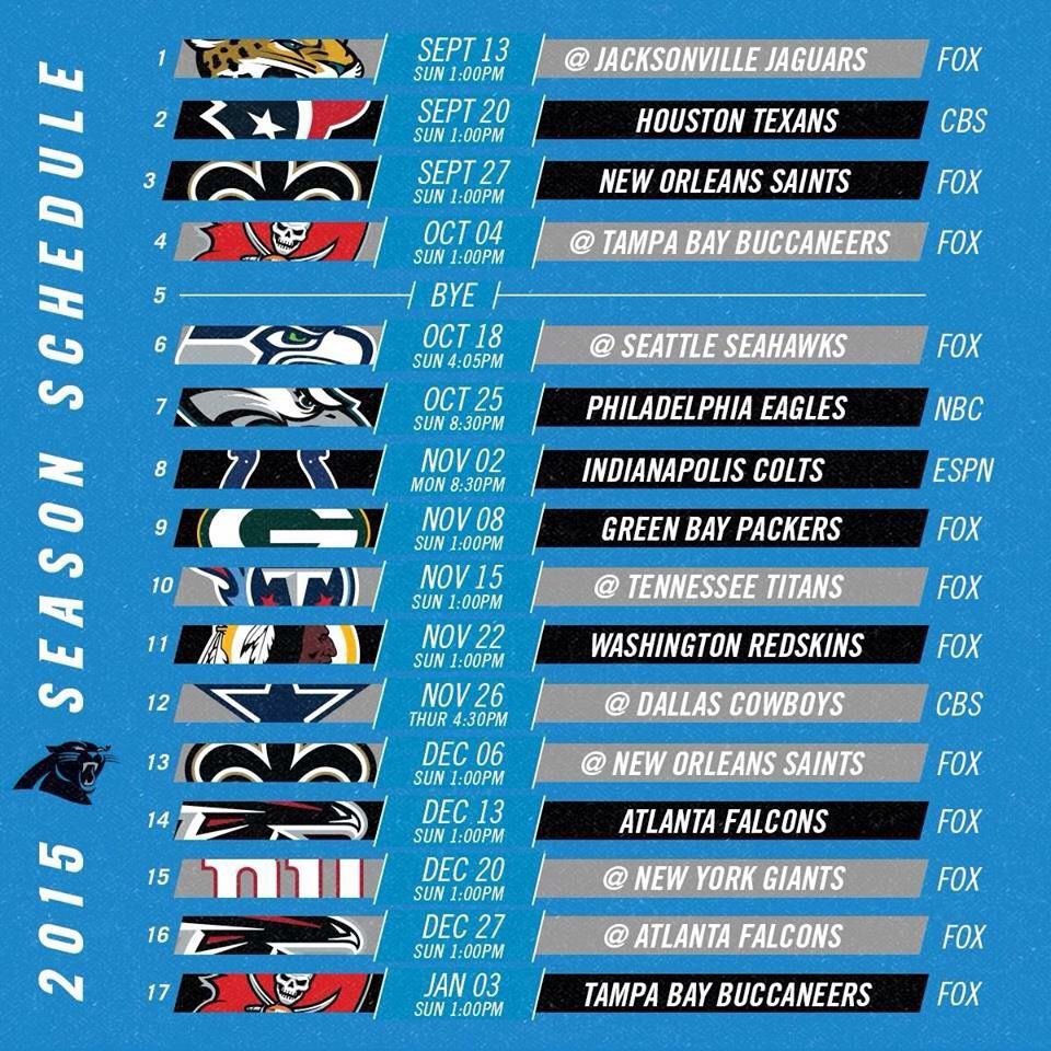 2015 panthers schedule! | panthers | pinterest | panthers, carolina