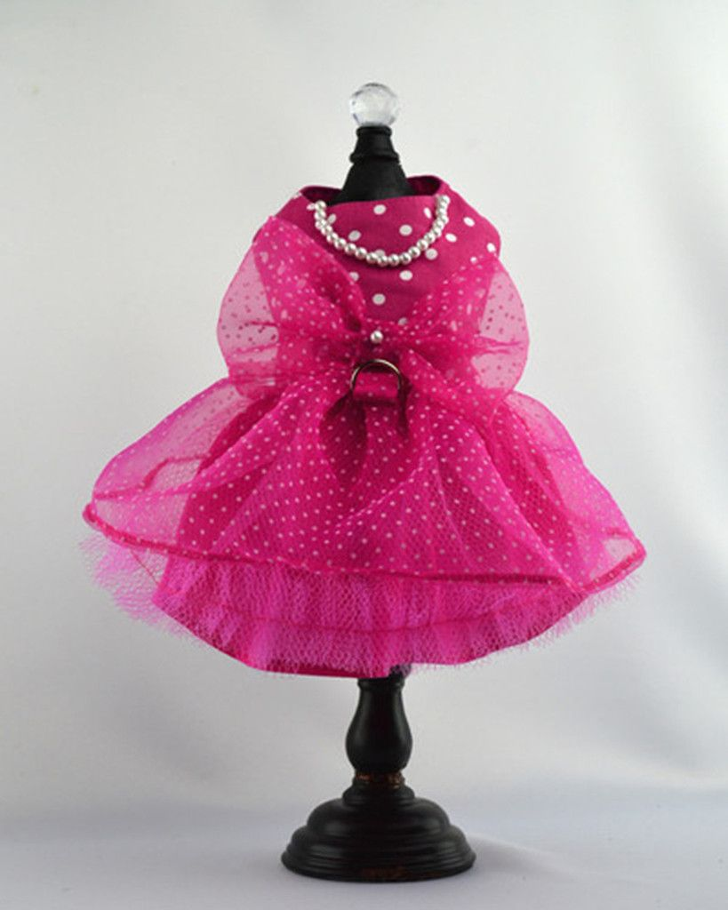 7262a914cf6 Talk about Feminine - this dress calls it by name! The top is hot pink with white  polka dots while the skirt is layers of tulle over a cotton lining for ...