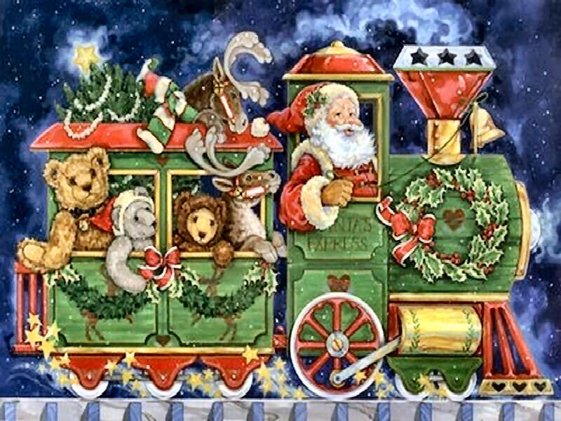 Christmas Train | Christmas Tree Train | Pinterest | Christmas train ...