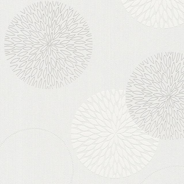 Papier peint expansé sur intissé Fleurs bulles blanc | Castorama ...