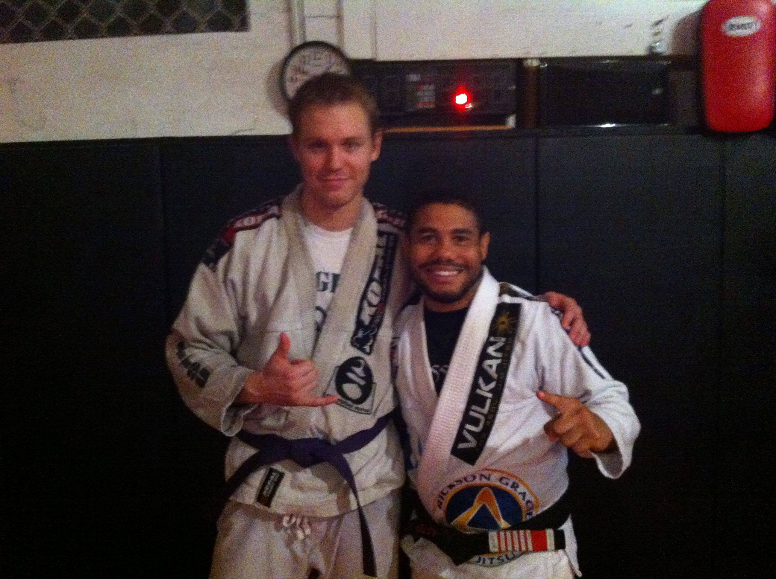 Will Caldwell with 5th degree #bjj black belt Cleber Luciano. Photo taken in at Luling Mixed Martial Arts.
